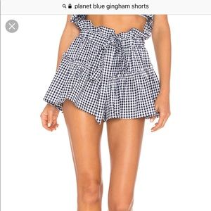 Planet Blue Gingham Shorts
